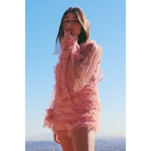 Other - Pink Ruffle Romper
